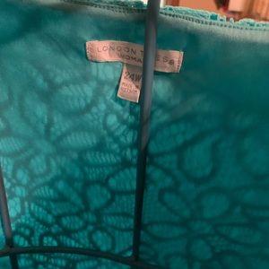 Plus size turquoise lace dress